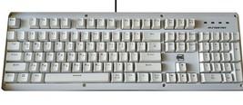 BFriend MK8 Korean English Gaming Keyboard Mechanical Plunger Switch (White) image 1