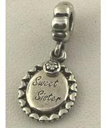 Pandora Charm Colgante Sweet Sister Plata de Ley - $38.22