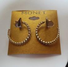 Monet Gold tone Gold Ears Hoop Earrings  - $18.80