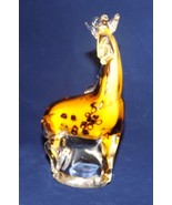 "7.25"" Heavy Colored Glass Giraffe - New - $37.99"