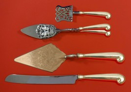 Queen Anne-Williamsburg by Stieff Sterling Silver Dessert Serving Set 4pc Custom - $389.00