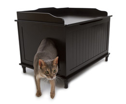 DESIGNEDR CATBOX LITTER BOX ENCLOSURE - Blk or White - Free Shipping in ... - $154.95