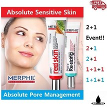 MERPHIL RED SKIN CREAM for Sensitive Skin PORE RESIZING SERUM for Pore E... - $15.57+