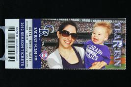 Colorado Rockies vs Philadelphia Phillies MLB Ticket w Stub 07/14/2012 Year Fan - $8.17