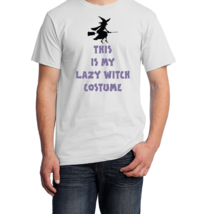 Men's Halloween Costume T-Shirt, This Is My Lazy Witch Costume - $20.00