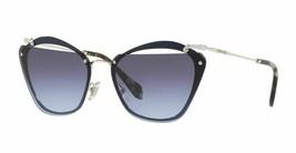 New Miu Miu Noir Cut Out Mu 54TS UE6/2F0 Blue/Violet Silver Gradient Sunglass - $185.77