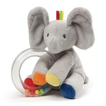 "Baby GUND Flappy the Elephant Stuffed Animal Rattle Plush Toy, 5"" - $12.50"