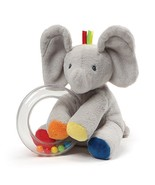 "Baby GUND Flappy the Elephant Stuffed Animal Rattle Plush Toy, 5"" - $12.50"