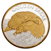 NWTM 2 Oz 999 Fine Silver Round Montana Wildlife Golden Eagle Big Sky Co... - $149.73