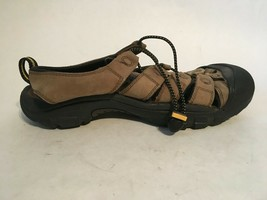 Keen Mens Brown Leather Slip On Casual Comfort Sandals sz 10 - $32.73
