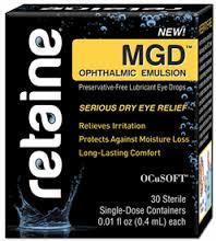 Retaine MGD ophthalmic emulsion 30 count  FREE shipping