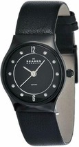 Skagen Black Dial 233XSCLB Ceramic Leather Women's Analog Watch - $88.11