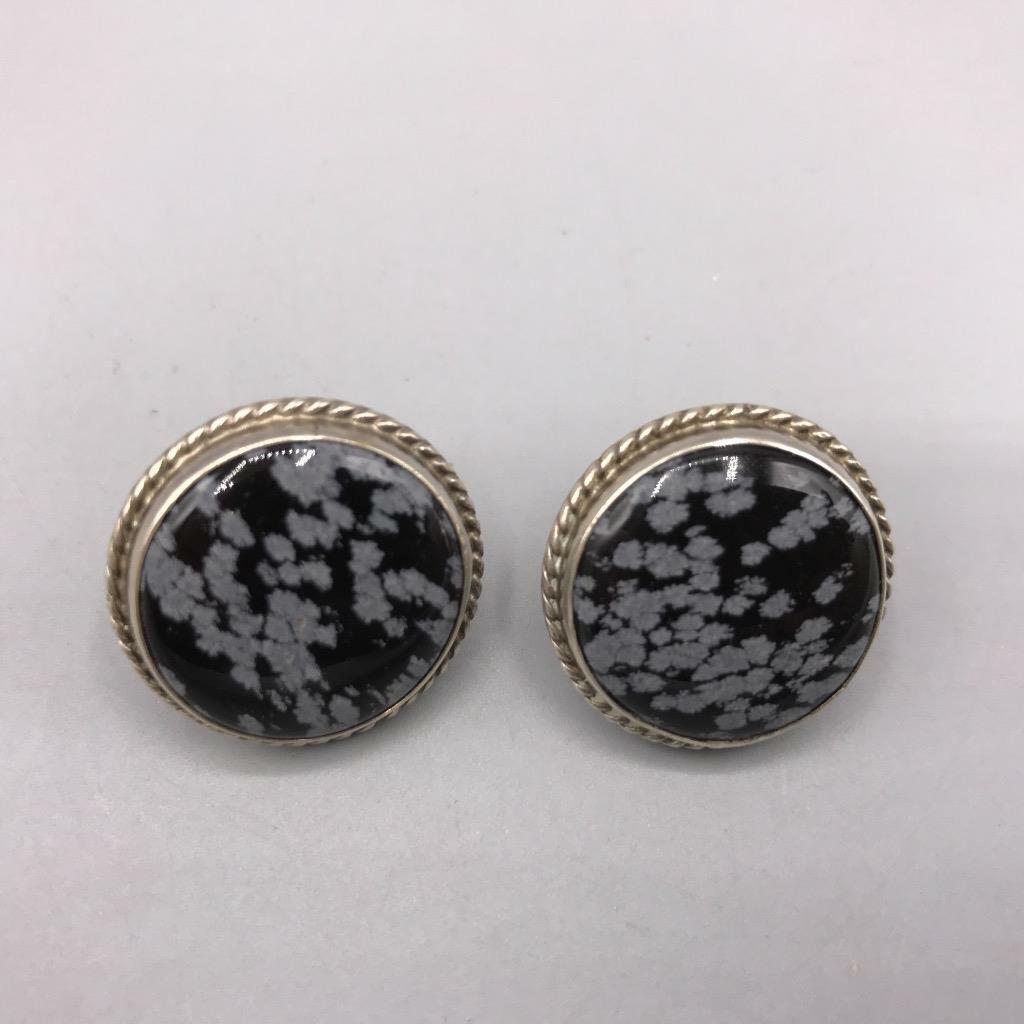 Vintage Sterling Silver Screw On Earrings