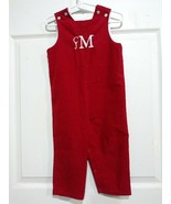 The bailey boys  Boys Toddler 24m Red Corduroy Romper Outfit mammogram cjm - $19.99