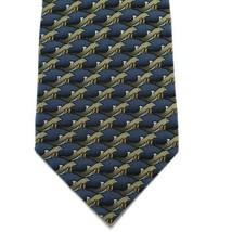 "Ties to Nature Dolphin Tie Mens Imported Silk Necktie 57"" Blue Gray Ocea... - $19.79"