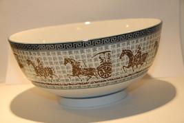 LAT  BOWL ASIAN CHARACTERS MONGOL CHARIOT ANCIENT ROME HISTORY PORCELAIN - $21.99
