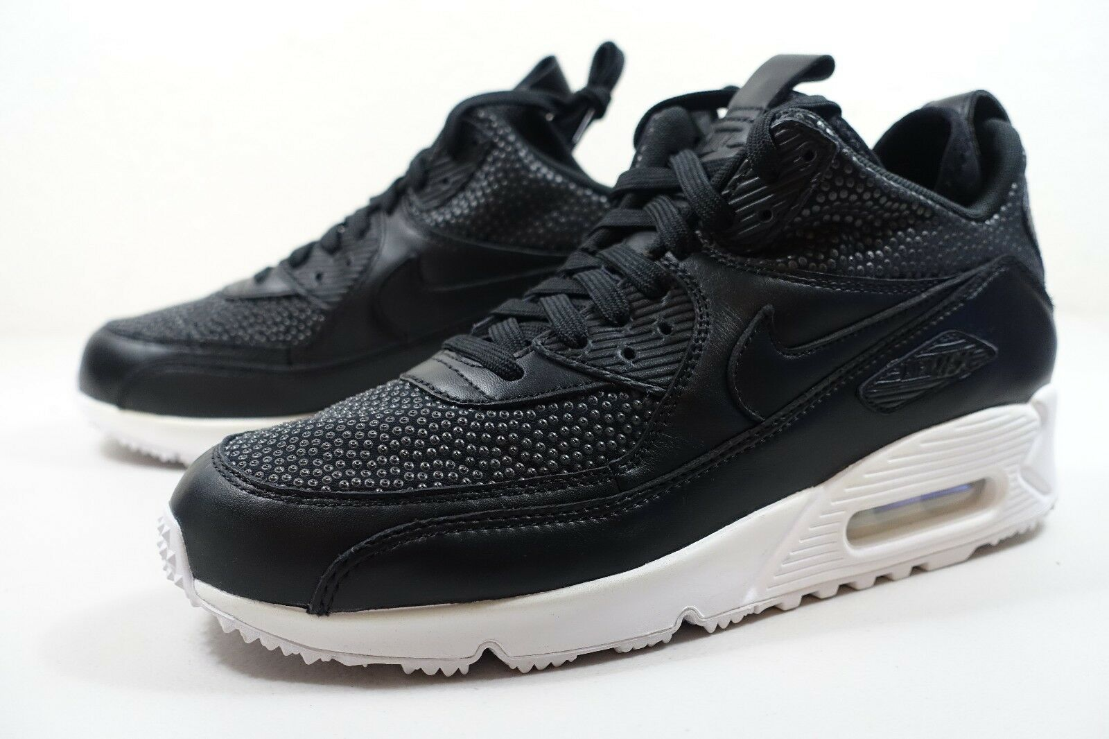 6d6c8771e7f5 HOMME Nike Air Max 90 Sneakers Tech Chaussures Noir Blanc 728741 002