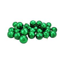 "32 Shiny Xmas Green Shatterproof Christmas Ball Ornaments 3.25"" - tkcc - $54.95"