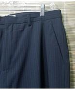Calvin Klein 36543 Mens Stripe Dress Pants 33x32 Wool/polyester/Lycra sp... - $19.59