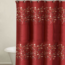 "Popular Bath Aubury Burgundy Collection - 70"" x 72"" Bathroom Shower Curtain - $29.29"