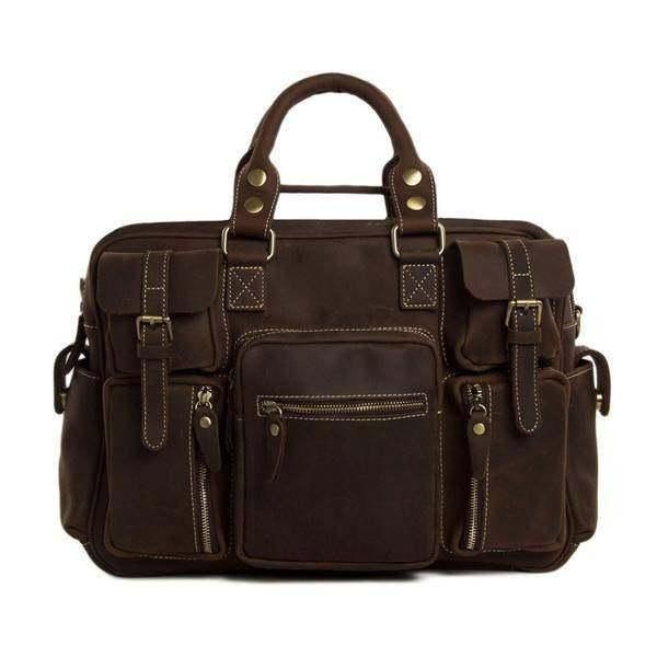 On Sale, Natural Leather Men's Travel Bag, Laptop Bag, Men Leather Briefcase