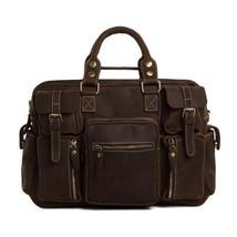 On Sale, Natural Leather Men's Travel Bag, Laptop Bag, Men Leather Briefcase image 1