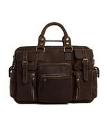 On Sale, Natural Leather Men's Travel Bag, Laptop Bag, Men Leather Brief... - $190.00