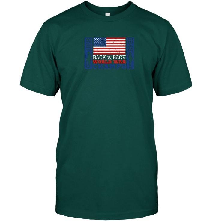 America USA back to back World War Champions patriotic shirt
