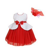 New Flower Girl Party Bridesmaid Dress+Headband in Blue Red 12 Months to... - $30.91+