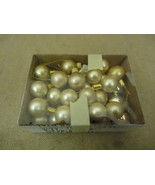 Designer Hanging Balls One Box Decorative 1in Diameter Gold Glass - $12.10