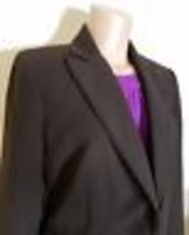 EVAN-PICONE PETITE WOMENS BLAZER FULLY LINED BROWN SIZE 12P CREPE SUITI ... - $21.55