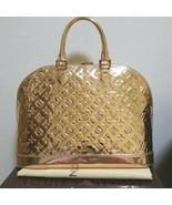 LOUIS VUITTON LV Hand Bag Alma Gold Miroir Monogram Woman New Unused L/d... - $3,916.47