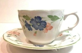 Nikko Provincial Bordeaux China Cup & Saucer Set Japan - $10.88