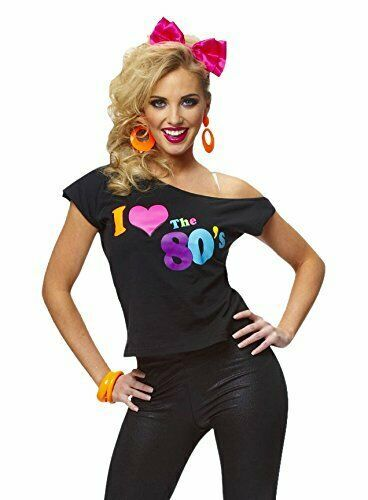 Costume Culture i Love The 80s Retro Camiseta Adulto Disfraz Halloween 32096