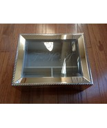 """Potterybarn Metal and Glass Jeweler Box Itched Letters F K A 10"""" X 8"""" X ... - $38.61"""