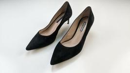 STUART WEITZMAN Black Suede Pointy Toe Slip On Pumps Size 9M - $49.49