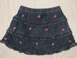 NWT Gymboree Island Fun Flower Denim Ruffle Skirt Size 5T - $6.79