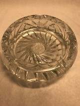AMERICAN BRILLIANT CUT GLASS ASHTRAY CANDY DISH VINTAGE MID CENTURY 7.5 ... - $47.51