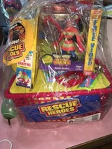 night sound rescue heroes easter basket with hat action figurine - $36.86