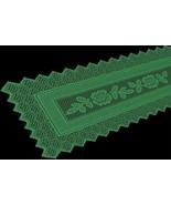 Table Runner Grega Design Brazilian Lace 19X62 Inches Green Color 100 Pe... - $19.29