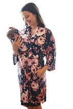 Maternity Labor Delivery Matching 3-Piece Robe and Swaddle Blanket and H... - $92.28