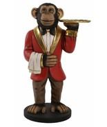 3FT Chadsy Chimpanzee Waiter Butler Statue Display Prop Restaurant Home Bar - $383.25