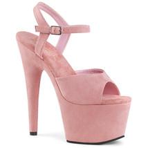 "PLEASER ADORE-709F Sexy 7"" Heel  Platform Pink Faux Suede Dancer Stripper Shoes - $53.95"