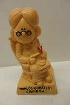 "Vintage R&W Berries Co. Yellow Resin Figurine 1970 ""World's Greatest Gra... - $13.99"