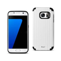 REIKO SAMSUNG GALAXY S7 RUGGED METAL TEXTURE HYBRID CASE WITH RIDGED BAC... - $8.47