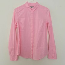 COS 6 Button Up Long Sleeve Cotton Blend Collared Shirt Pink - $25.93