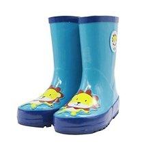 Cute Starry Kids' Rain Boots Blue Lion Children Rainy Days Shoes 22.5CM