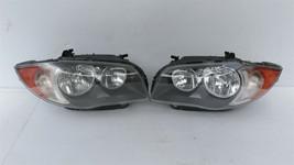 08-11 BMW E82 E88 128i 135i Halogen Headlight Lamps Set L&R