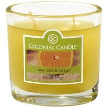 Colonial Candle 3.5 oz. Sea Salt & Yuzu Jar Candle 2 Wicks - $8.00
