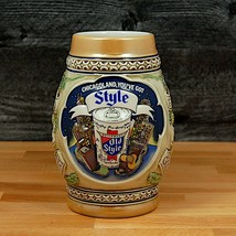 "1983 Old Style Beer Stein Mug Limited Edition Chicagoland Heileman's 6 1/2"" - $14.24"